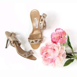 Manolo Blahnik Cut-Out Sandals Sexy High Heels💃